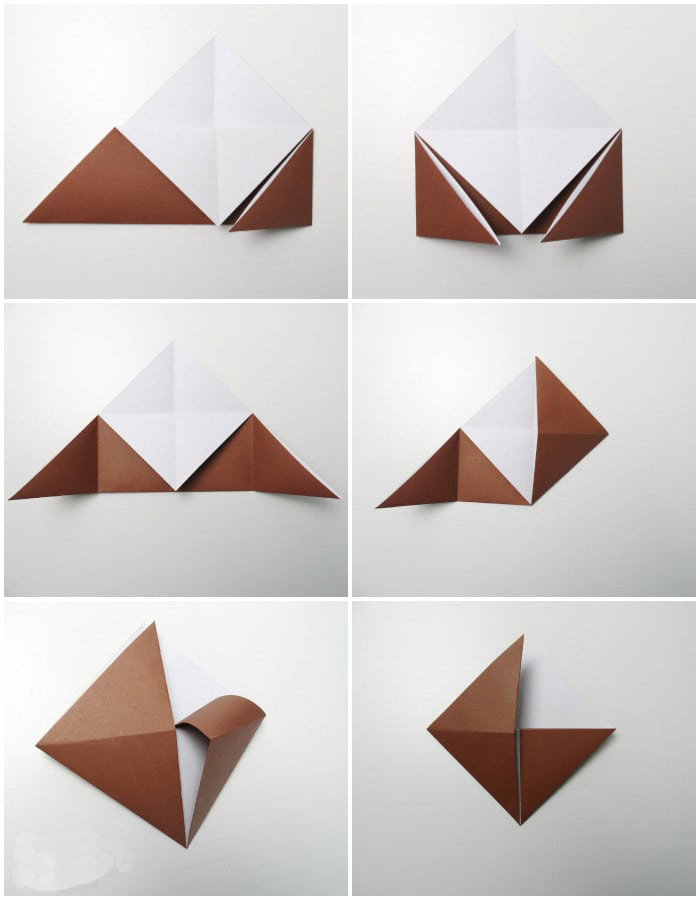 Making a Origami Corner Bookmark